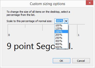 Custom sizing options (DPI scaling)